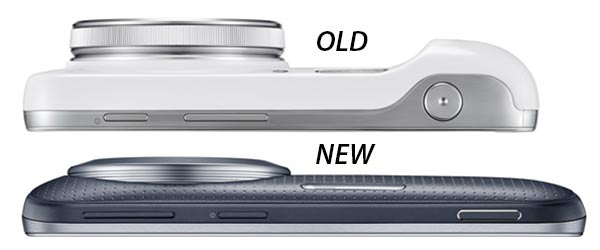 Samsung Galaxy S4 Zoom above, Galaxy K Zoom below