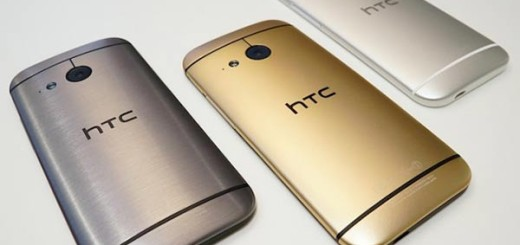 HTC One mini 2 in Gunmetal Gray, Amber Gold and Glacial Silver
