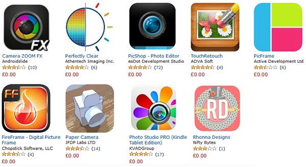 The 9 free photo apps - get 100 bonus coins for each download