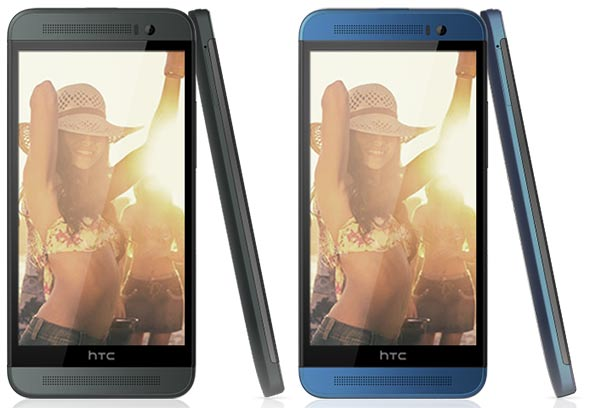 HTC One E8 black and blue