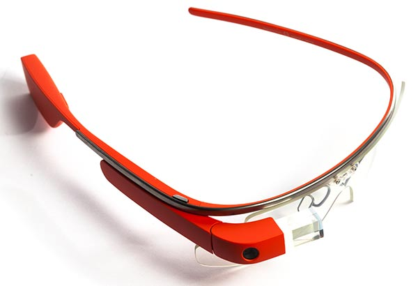 Google Glass in red