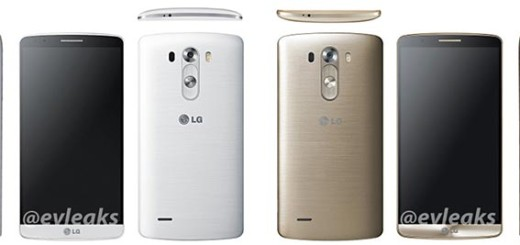 LG G3, also available in white and gold finishes