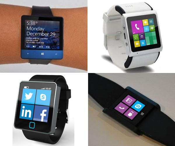 A selection of Microsoft Smartwatch concepts from around the net