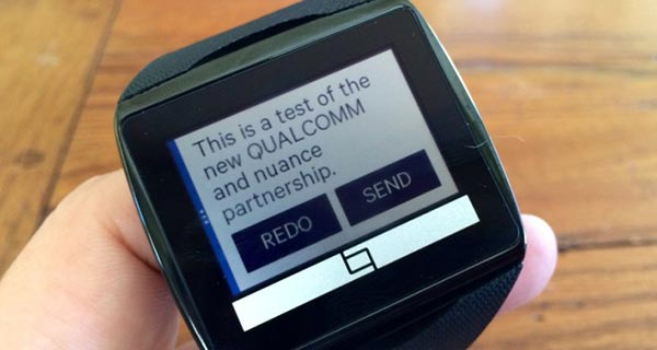 Qualcomm Toq Smartwatch Nuance speech