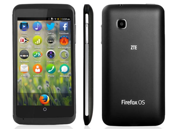 Firefox OS 1.3 running on the new ZTE Open C