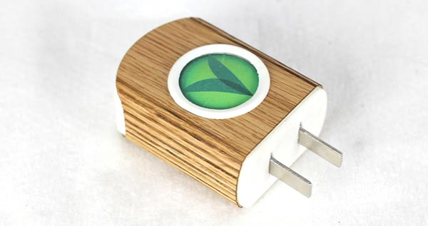 The ASMO charger in a fetching wood grain finish