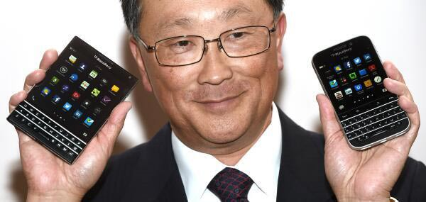 Blackberry CEO with the Passport and Classic