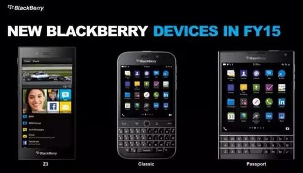 Blackberry devices for FY15