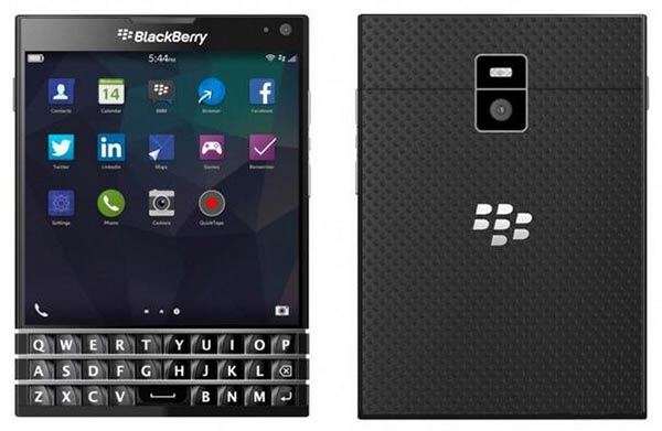 Blackberry Passport front and back view