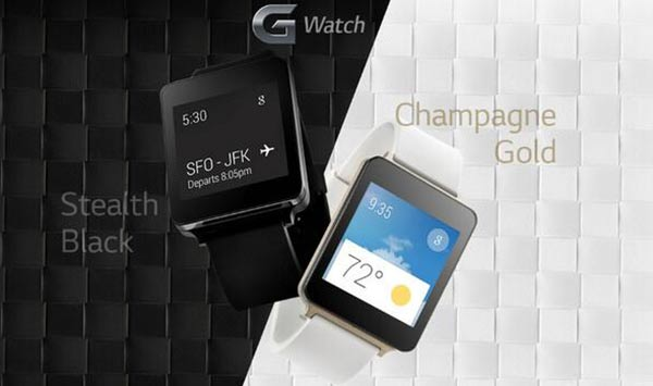 LG G-Watch colour options