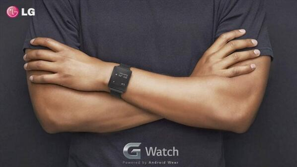 The LG G-Watch being worn