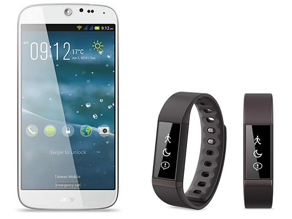 Acer Liquid Jade smartphone with Acer Liquid Leap smartband