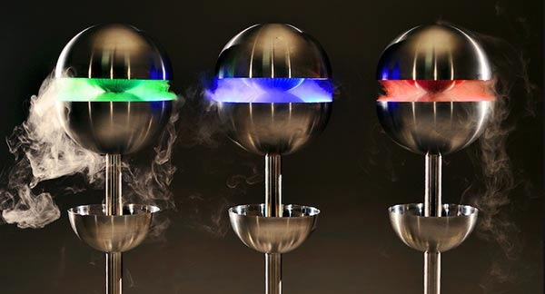 Three edible mist machines