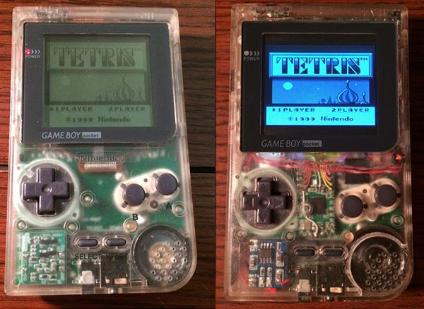Nintendo Gameboy Pocket. Before and after.