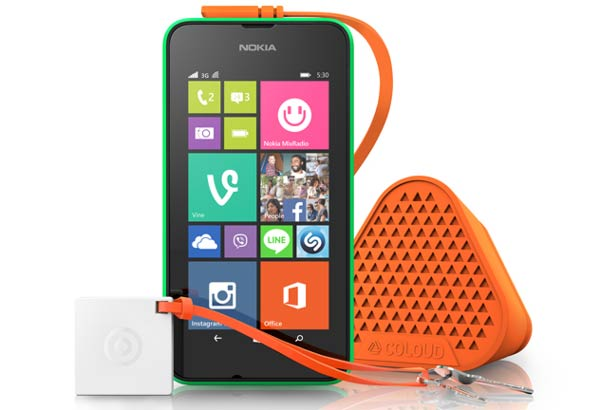 Lumia 530 with Coloud Bang Speakers