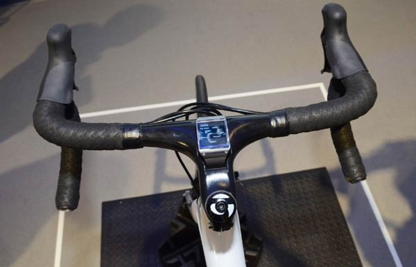Samsung Galaxy Gear Mounted To Trek bicycle
