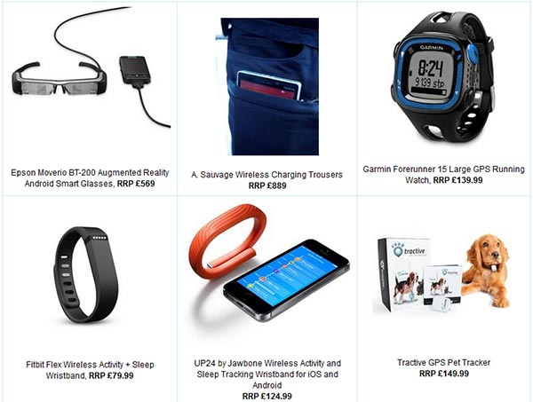 Amazon Wearable Technology listing