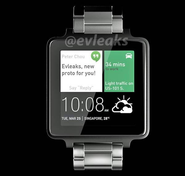 HTC Android Wear Smartwatch Render