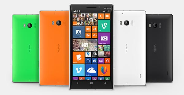 The Nokia Lumia 930 colour options