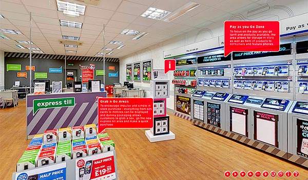 A Phones4U shop interior