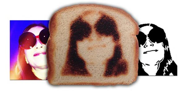 An example of some selfie toast