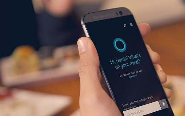 HTC M8 Windows Phone with Cortana
