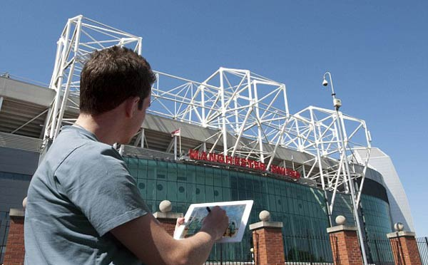 Old Trafford Stadium tablet ban