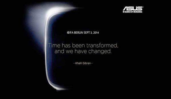 Asus IFA Smartwatch Teaser