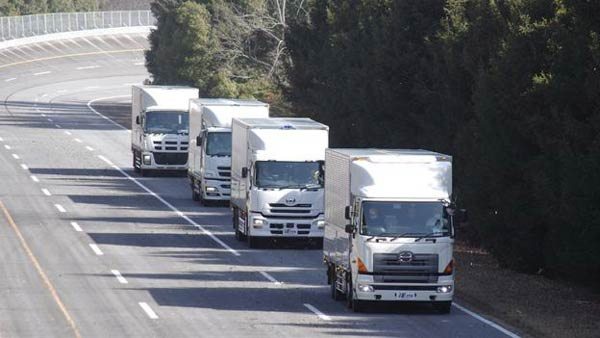 Self-Driving Lorry Convoy