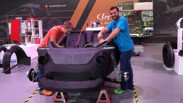 This Strati 3D printed car will be ready on Saturday