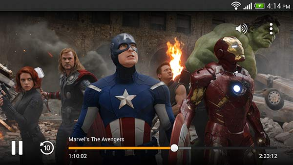 Amazon Instant Video on Android, in action