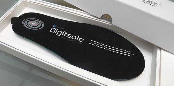 A Digitsole technology shoe insole