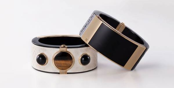 Two contrasting MICA smart bracelet designs