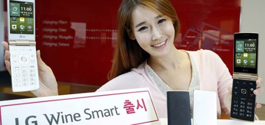 Model shows off LG Wine Smart in both black and white