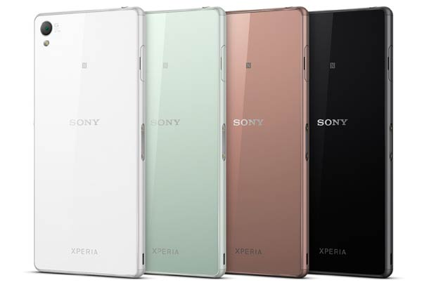 Sony Xperia Z3 Colour Variatons