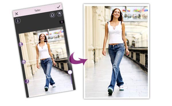 YouCam Perfect Taller Feature