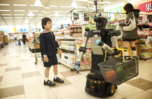 ATR Kyoto has also experimented with shopping robots