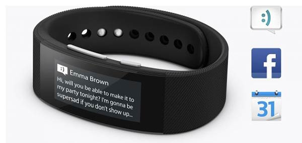 Sony SmartBand Talk shows an alert