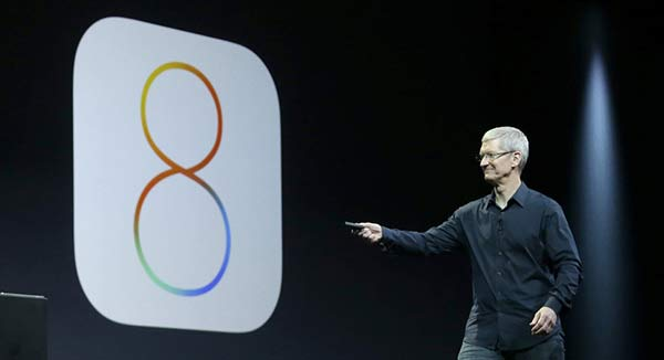 Tim  Cook reveals iOS 8