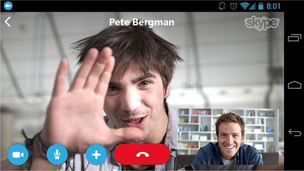 Skype for Android smartphones PiP
