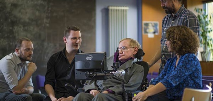 Prof Hawking and the team of Intel and SwiftKey developers