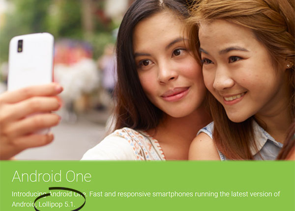 Android One phones feature Android Lollipop 5.1