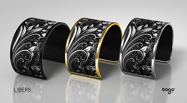 Tago Arc showing three bracelet construction options